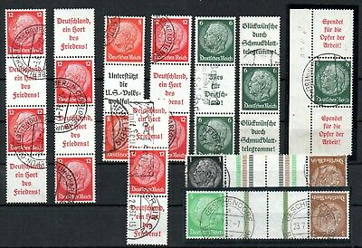 GERMANY , DEUTSCHES REICH , 1937 , very nice lot ONLY BETTER SE-TENANTS , USED
