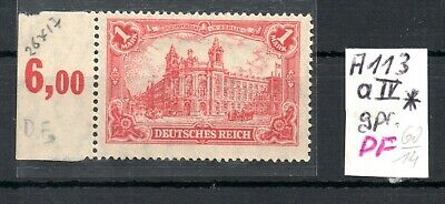 GERMANY , DEUTSCHES REICH , 1920 , scarce 1 MARK with PLATEFAULT , expert. MH
