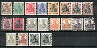 GERMANY , DEUTSCHES REICH , 1915 - 1918 , GERMANIA , nice stamps ,  ALL MNH