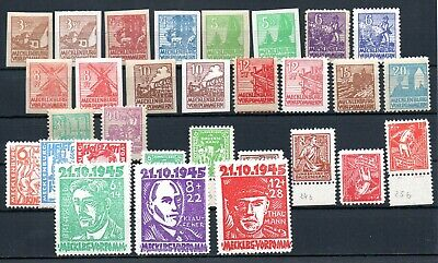 GERMANY , 1945 , SOWIET ZONE , MECKLENBOURG . SIX better / scarce SETS , MNH
