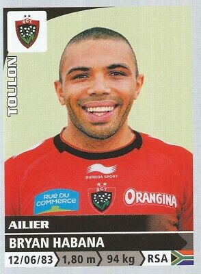242 Bryan Habana # South Africa Rc.toulon Rct Top 14 Sticker Panini Rugby 2015