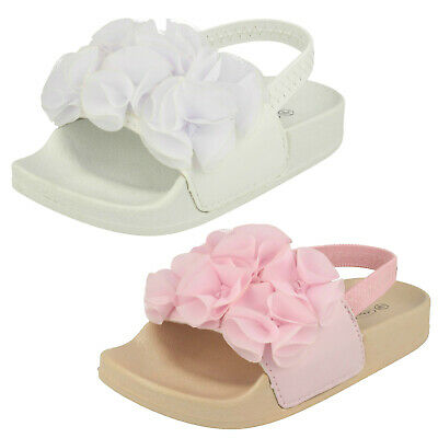 WHOLESALE Girls Slingback Sliders / Sizes 4-10 / 18 Pairs / H0W313