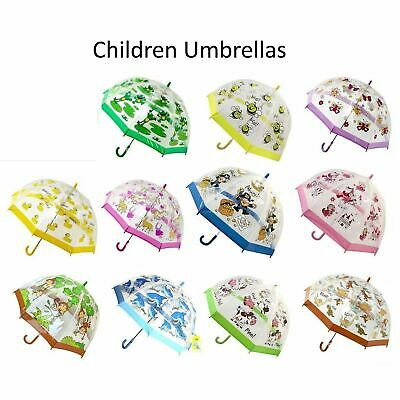 "Bugzz Soake Kids Bright Colourful Girls Boys Manual PVC Stick 32"" Umbrellas"