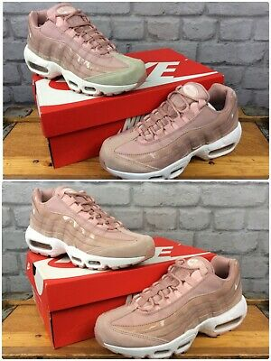 premium selection 8a523 b5c7a Nike Air Max 95 Ladies Pink Leather Mesh Patent Tonal Trainers Various Sizes