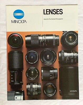 Minolta- Lenses, A4-Product Brochure