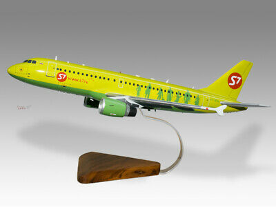 Airbus A319 Meridiana Solid Kiln Dried Mahogany Wood Handmade Desktop Model Models Transportation Collectables