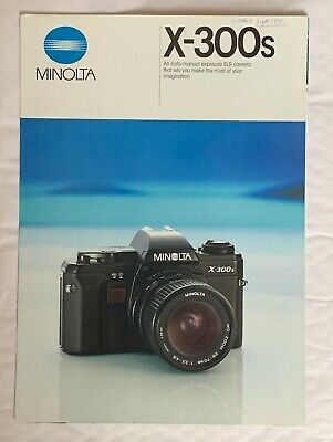 Minolta X-300's  Film Camera, A4-Product Brochure