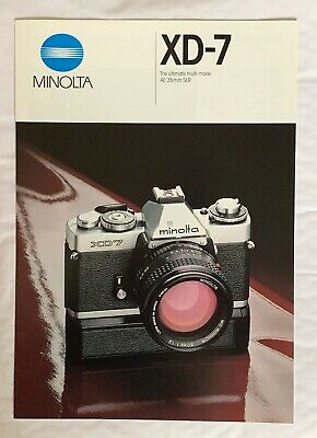 Minolta X-D7 Film Camera, A4 Product Brochure