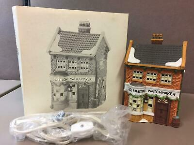 "Dept 56 Dickens Village ""geo Weeton Watchmaker"" 59269 Retired In Box"