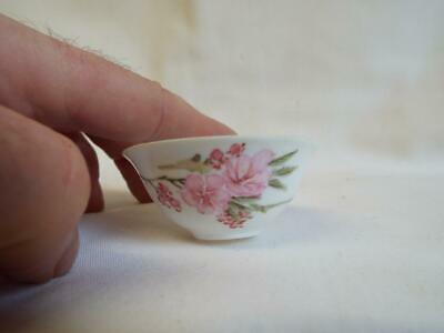 Chinese japanese painted eggshell china bowl with makers mark