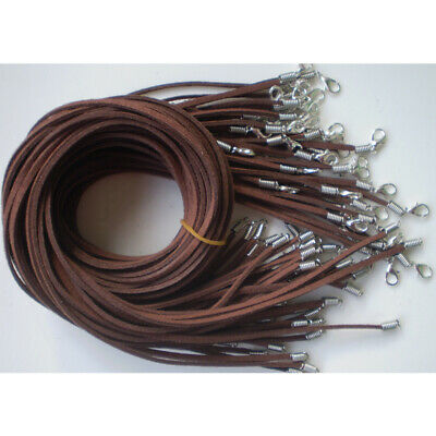 Wholesale price 10pcs brown Suede Leather String 20 inch Necklace Cord