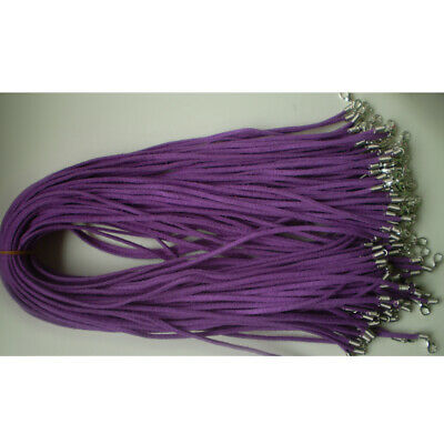 Wholesale price 10pcs purple Suede Leather String 20 inch Necklace Cord