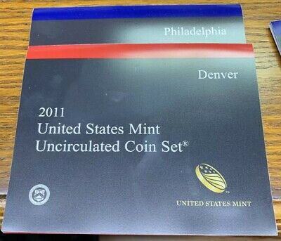Us 2011-D & P Uncirculated Mint Coin Set 28 Coins In All V-571