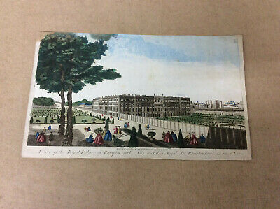 London; n.n. - A view of the royal palace of Hampton Court - 1760  #692