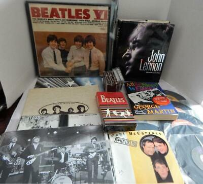 Huge Collection of BEATLES Memorabilia - Books, LP, 45 Records, CD's & More