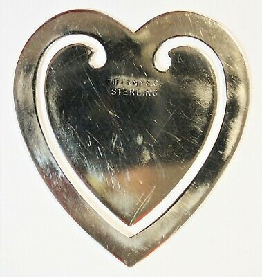 **Authentic TIFFANY & CO Sterling Silver Heart-Shaped Bookmark * FREE SHIPPING