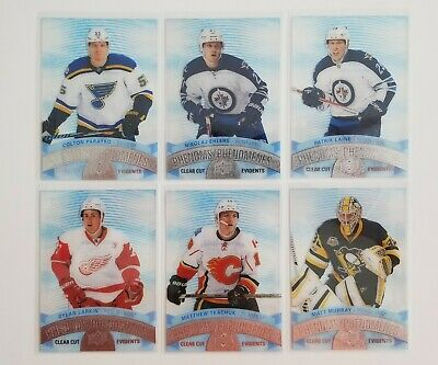 2017-18 Phenoms Clear Cut Lot X6 Cards Upper Deck Tim Horton Wow! Dylan Larkin++