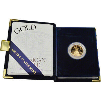 2002-W American Gold Eagle Proof 1/4 oz $10 in OGP