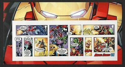 Gb 2019 Marvel Stamp Miniature Sheet Pack