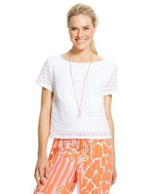 ce61af2fed9f4a NEW Lilly Pulitzer for Target Women's Crochet Crop Top Pullover White XXL