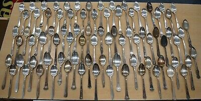 Lot of 83 Silver Plate Dinner Table Spoons Craft BUY IT NOW FREE SHIPPING 5