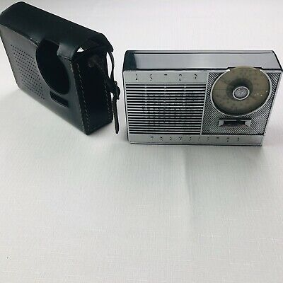 Retro Working ASTOR Vintage Antique Transistor Radio With Case Works AUX Only