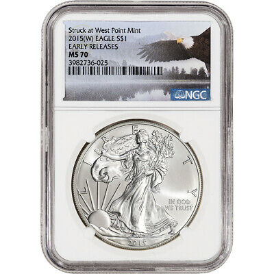 2015-(W) American Silver Eagle - NGC MS70 - Early Releases - NGC Eagle Label