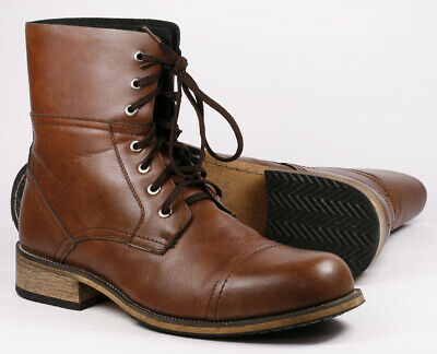 "Brown Men's Lace Up Cap Toe Casual Fashion boot "" FLOOR SAMPLE """