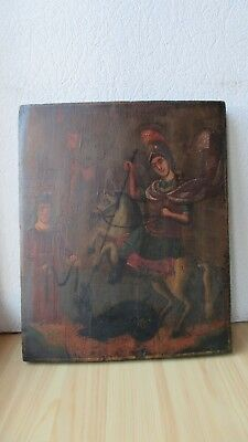 Icona Russa,Antique Russian Orthodox icon,,St.George,,from 19c.