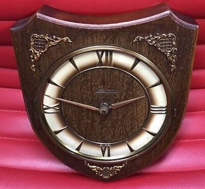 Vintage Wall Clock For Restoration Nice shape with fine brass filigree details