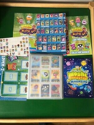 Bundle Job Lot Of Moshi Monster Trading Cards And Posters With Binder And Extras