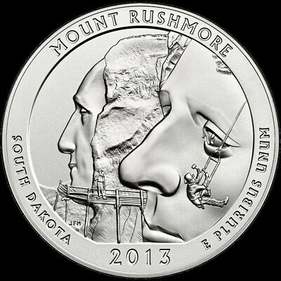 "2013 D Mount Rushmore National Park Quarter South Dakota ""BU"" ATB"