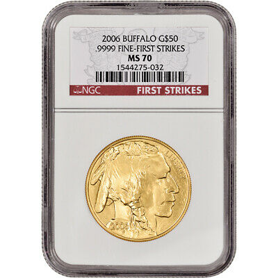 2006 American Gold Buffalo (1 oz) $50 - NGC MS70 - First Strikes