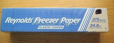 """NEW NOS Reynolds Freezer Paper 375 Square Feet Sq. Ft. One Roll 83-1/3 Yds X 18"""""""