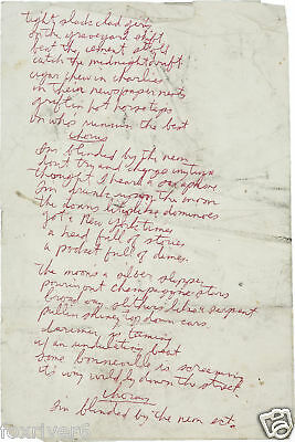 TOM WAITS HANDWRITTEN Lyrics - 'Wrong Side Of The Road