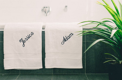Personalised Embroidered Cotton bath towel Free Name Embroidery On towel