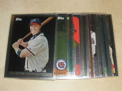 2008 Topps Trading Card History Chipper Jones Justin Verlander Lot of 10