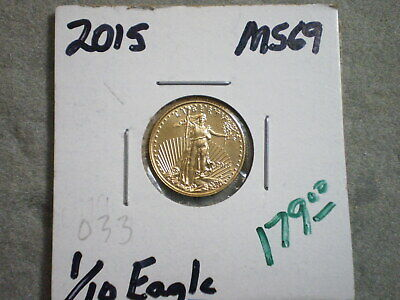 2015 1/10th Oz. GOLD AMERICAN EAGLE/ GREAT FIND
