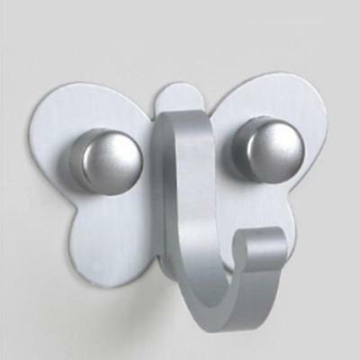 Butterfly Style Aluminum Wall Home Bathroom Mounted Clothes Towel Hook Hanger B