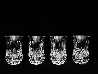 "4 Brilliant Waterford Crystal ""lismore"" 9 Oz. Flared Sipping Tumblers ~ Rare"