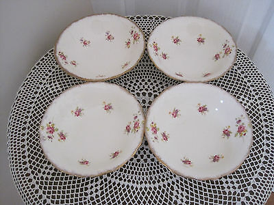 Four Beautiful James Kent Pink Roses Floral Bowls ~ Pattern 2799