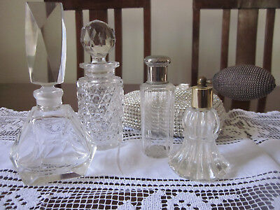 Collection Of Four Vintage Perfume Bottles ~ All Different