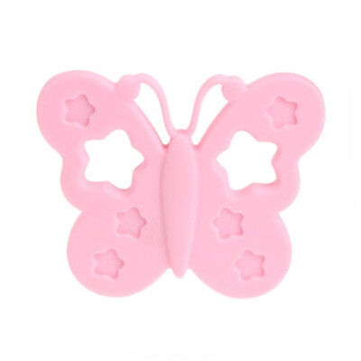 Butterfly Shape Chewing Toy Baby Appease Soft Silicone Teether Pend  B