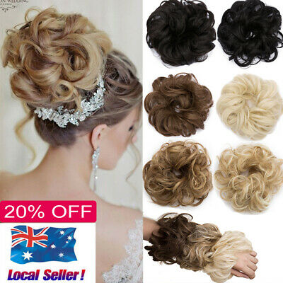 Curly Messy Bun Hair Piece Scrunchie Updo Cover Hair Extensions Thick Hairpiece