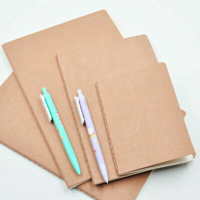 12Pcs Brown A6 Kraft Paper Notebooks Blank Pages Blank Cover Kraft Journals
