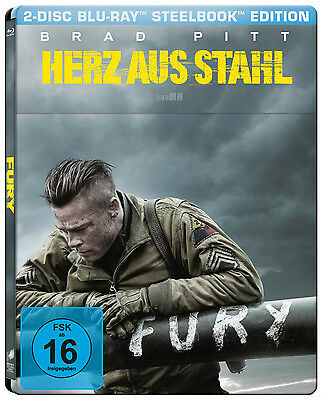 Fury - Herz aus Stahl - Limited Edition Steelbook (Blu-ray+UV Copy) NEU&OVP!