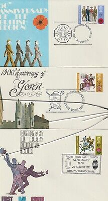 Gb Stamps First Day Cover 1971 Anniversaries Special Set Rares Collection