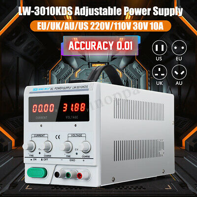 30V 10A 110/120V DC Power Supply Adjustable Precision Variable Digital Lab Grade