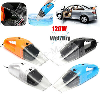 Portable 120W 12V Handheld Cyclonic Car Vacuum Cleaner Wet/Dry Duster Dirt New