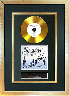 #182 WESTLIFE where we are GOLD DISC Cd Album Signed Autograph Mounted Print